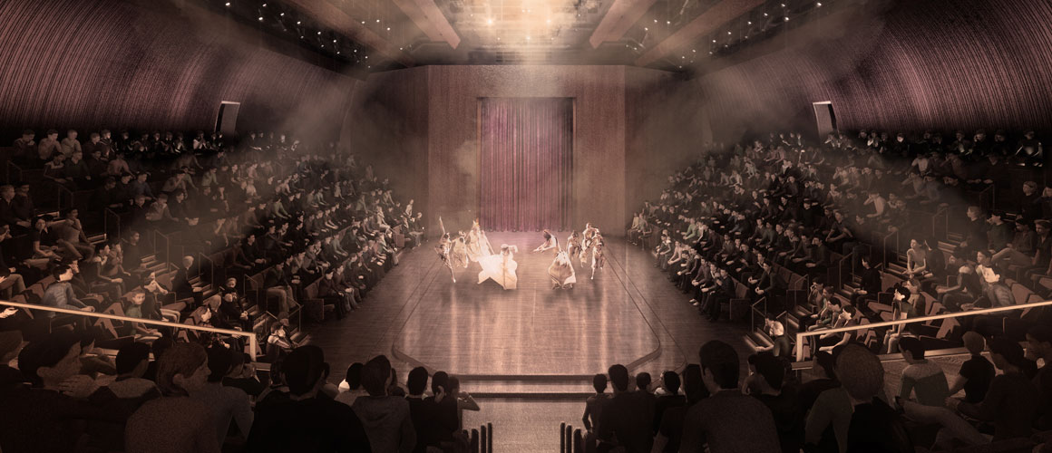 A rendering of the new Tom Patterson Theatre stage.