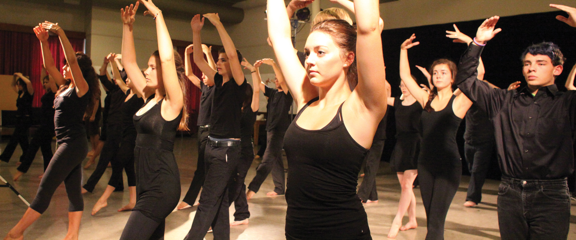 Image of Shakespeare School students during a dance workshop