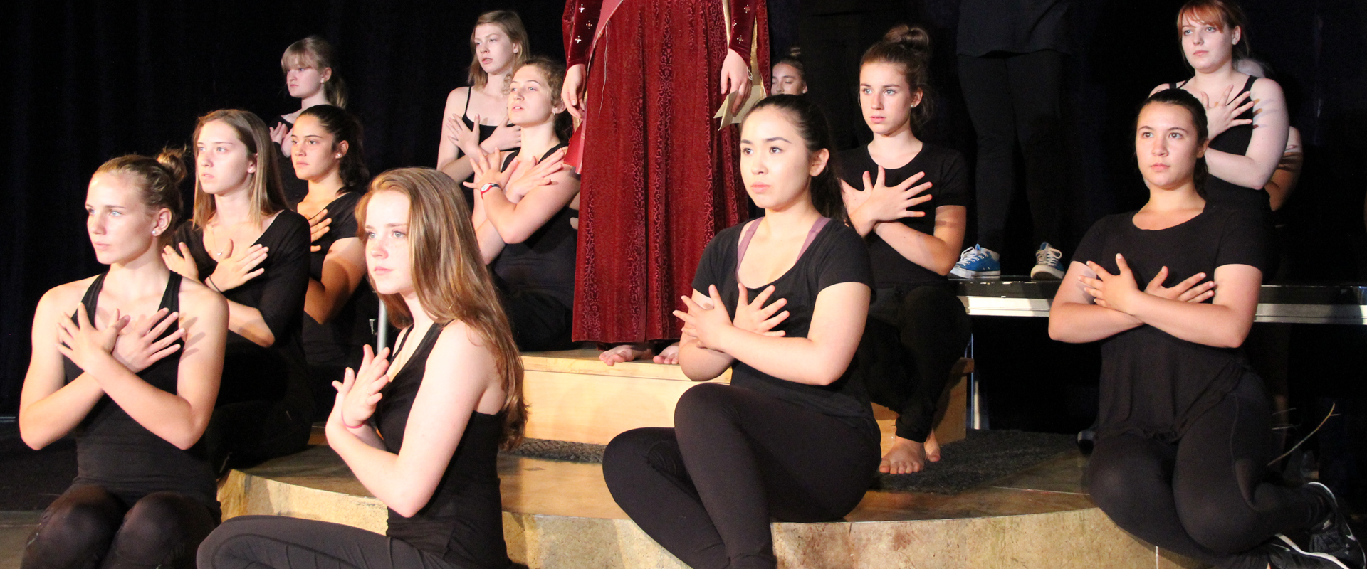 Shakespeare School students during a performance