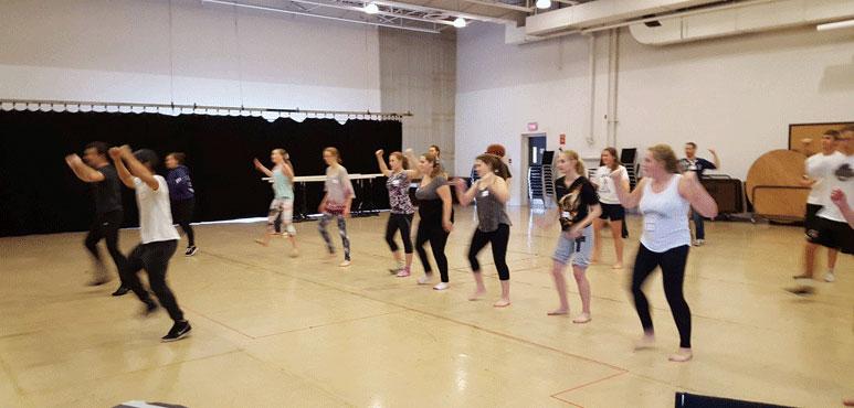 Song and dance workshop with Jason Sermonia and Matt Alfano.
