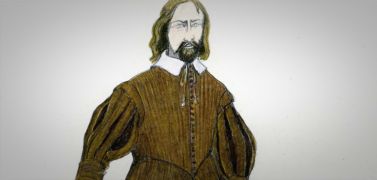 Design Sketch of Curan in King Lear (2002).