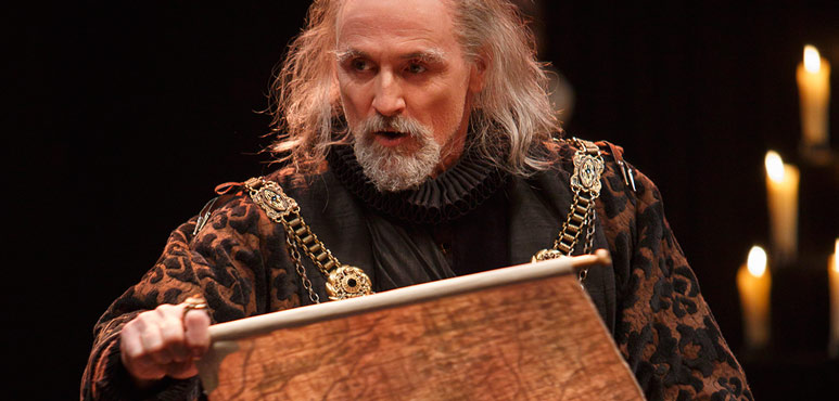 Colm Feore as King Lear in King Lear. Photography by David Hou.