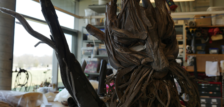 A look at the construction of one of Narnia's creatures in the props department.