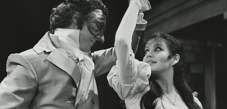 Romeo and Juliet, 1968. Christopher Walken as Romeo, Louise Marleau as Juliet. Photograph by Douglas Spillane.