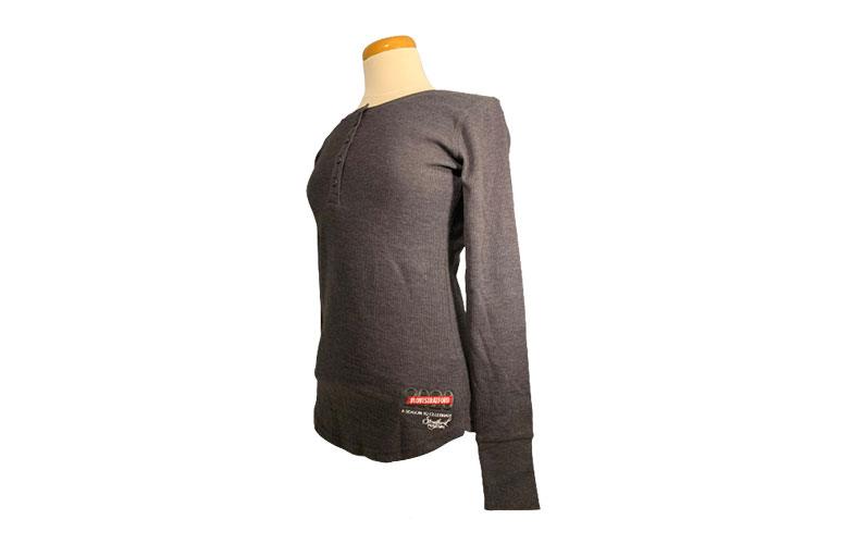 LADIES HENLEY - CHARCOAL
