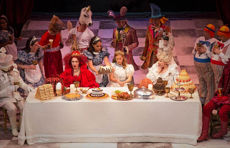 Members of the company in Alice Through the Looking Glass in 2014. Photo by Don Dixon.
