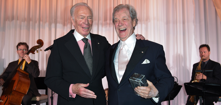 Christopher Plummer and Gordon Pinsent at the 2016 Stratford Festival Gala. Photo by George Pimentel.