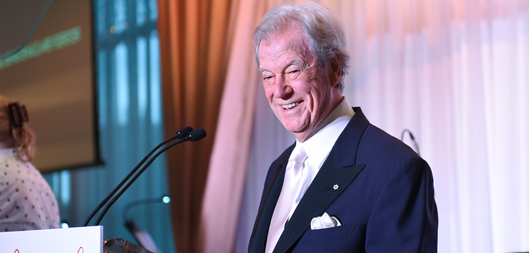 Gordon Pinsent at the 2016 Stratford Festival Gala. Photo by George Pimentel.