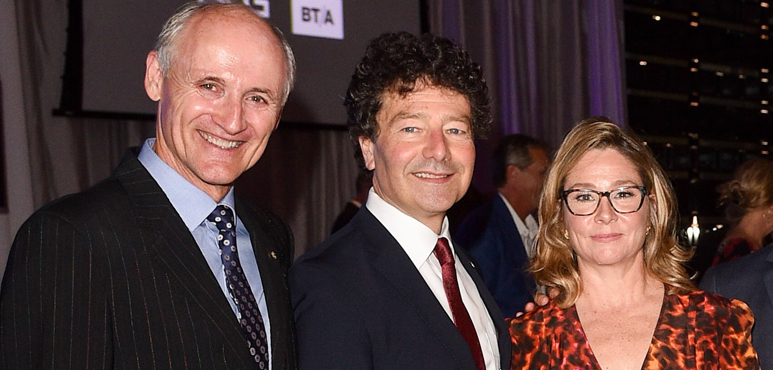 Colm Feore, Antoni Cimolino and Megan Follows at the Stratford Festival Gala. Photo by George Pimentel.