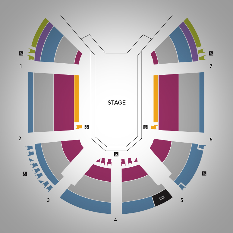 Tom Patterson Seatmap