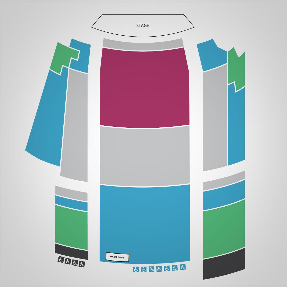 Avon Theatre Seat Map