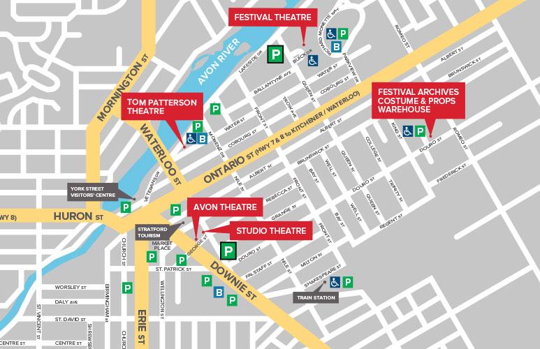 Stratford city parking map