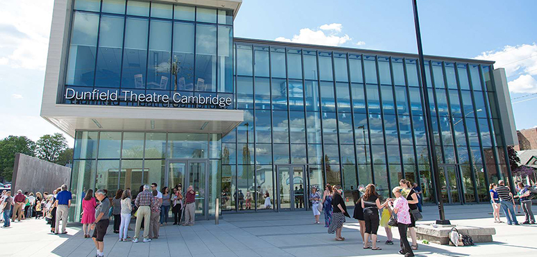 Stock photo of Dunfield Theatre in Cambridge