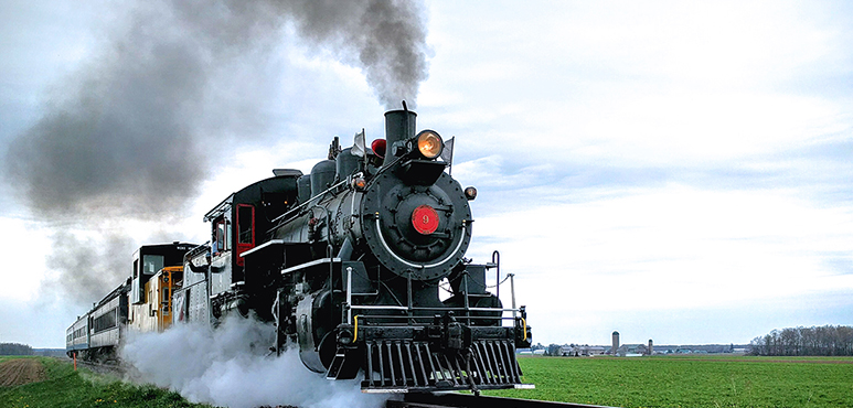 Stock photo of the Waterloo Central Railway steam engine