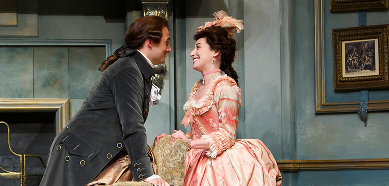 Production photo from She Stoops to Conquer