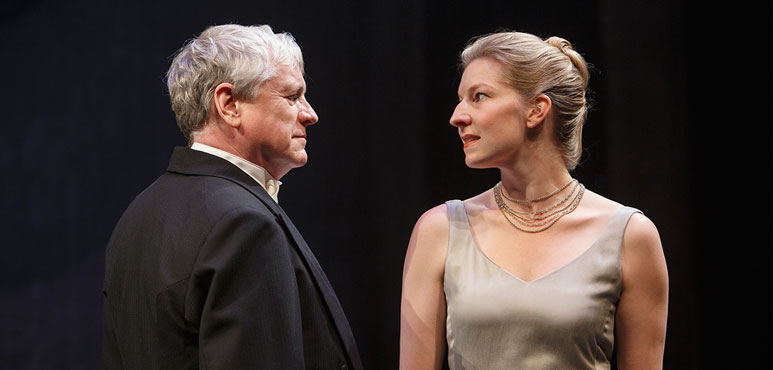Joseph Ziegler as Henry and Maev Beaty as Kate in The Last Wife. Photography by David Hou.