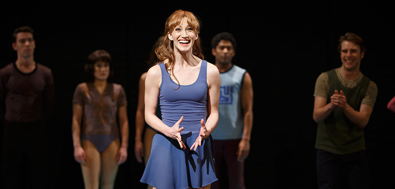 Alexandra Herzog as Kristine (centre) with members of the company. Photo by David Hou.