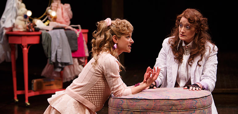 Trish Lindström (left) as Celia and Petrina Bromley as Rosalind. Photography by David Hou.