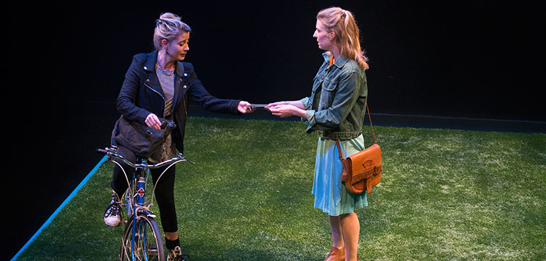 Krystin Pellerin (left) as Maggie and Maev Beaty as Sorrel. Photography by David Hou.