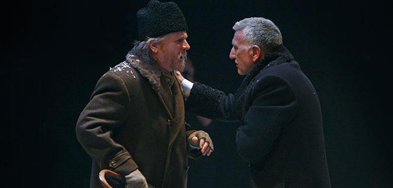 Joseph Ziegler (left) as Vilhalm Foldal and Scott Wentworth as John Gabriel Borkman. Photography by David Hou.