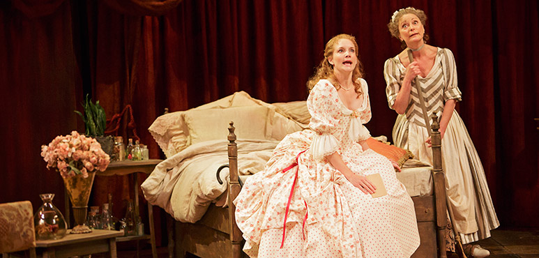 Shannon Taylor (left) as Angelique/Armand Bejart and Brigit Wilson as Toinette. Photography by David Hou.