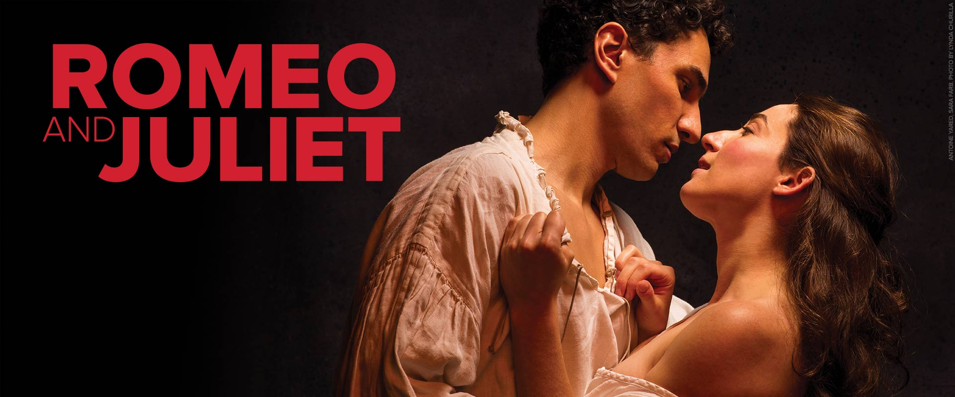 Publicity image from Romeo and Juliet featuring Antoine Yared and Sara Farb