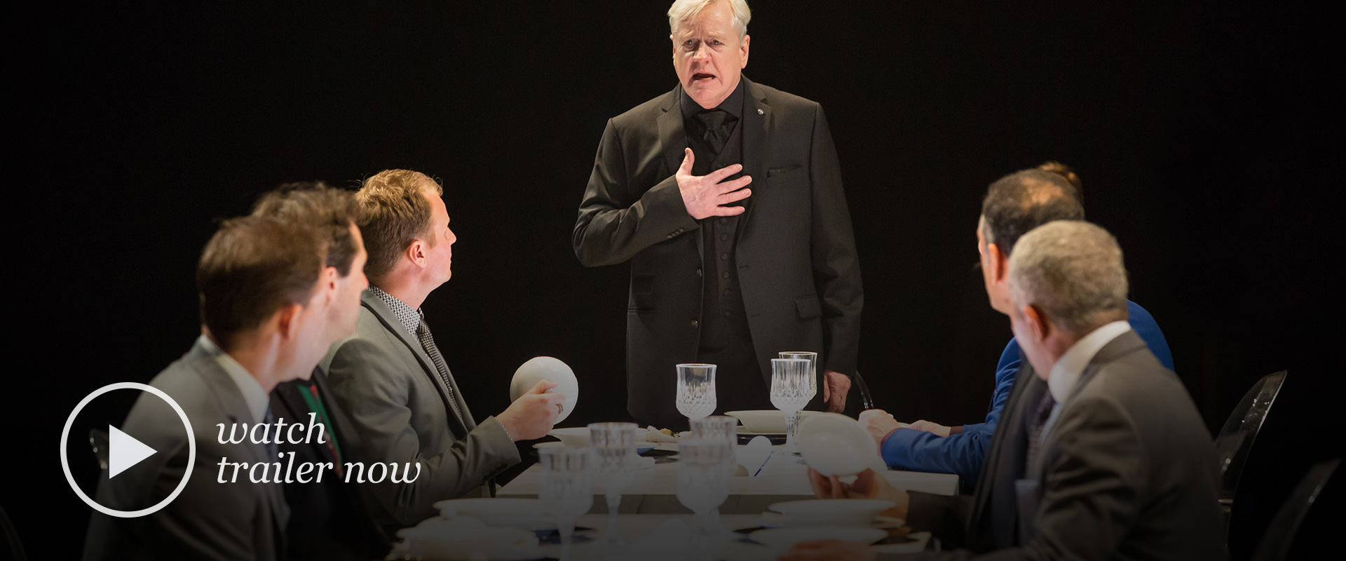 Publicity image from Timon of Athens featuring Joseph Ziegler