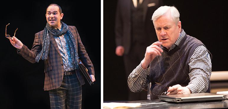 From left: Josue Laboucane as the Poet; Joseph Ziegler as Timon. Photography by Cylla von Tiedemann.