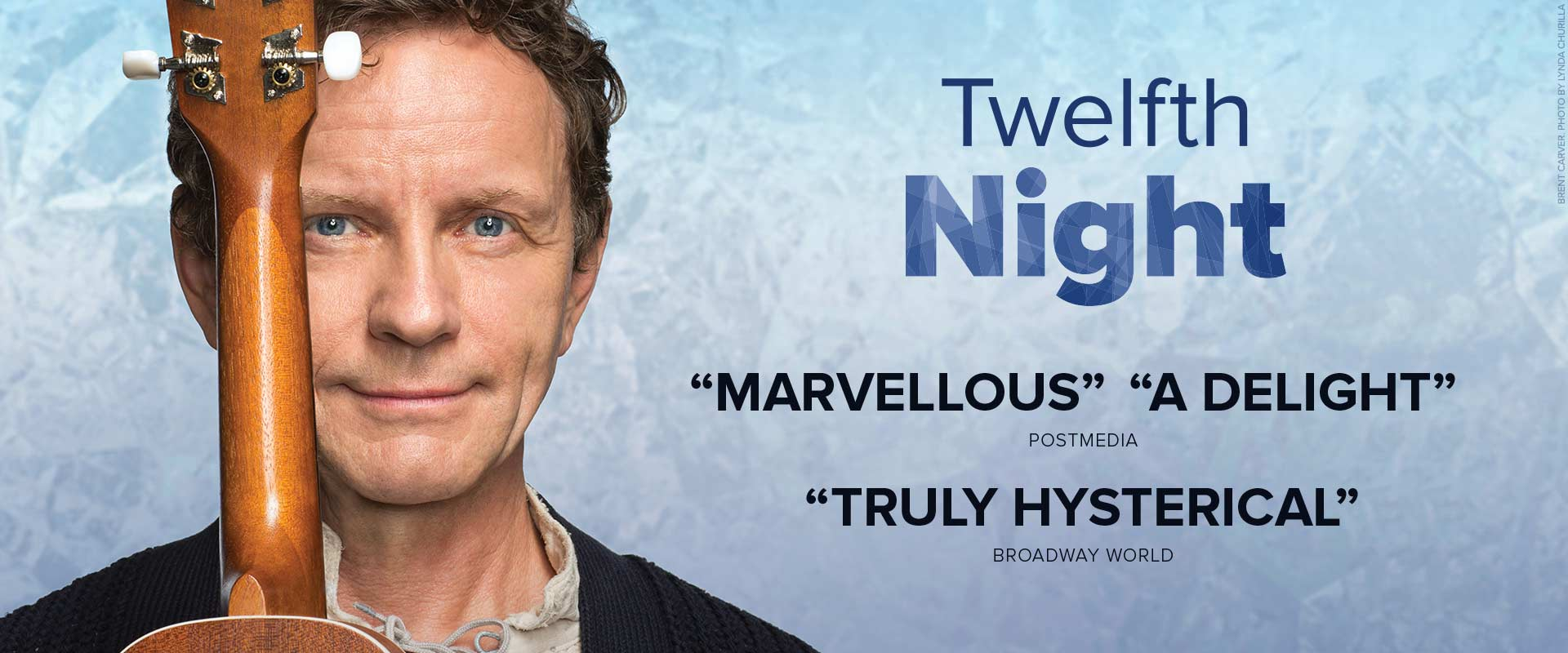 Publicity image from Twelfth Night featuring Brent Carver