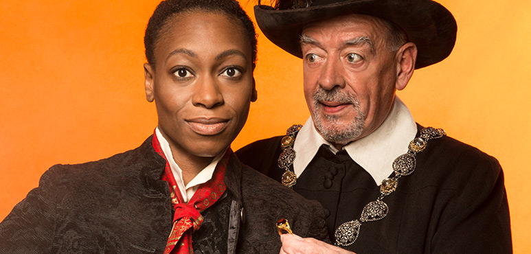 Sarah Afful as Viola and Rod Beattie as Malvolio. Photo by Lynda Churilla