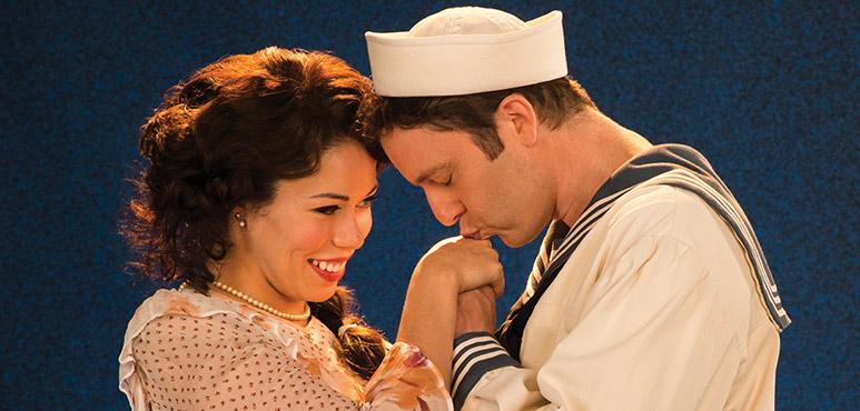 Jennifer Rider-Shaw as Josephine and Mark Uhre as Ralph Rackstraw. Photo by Lynda Churilla