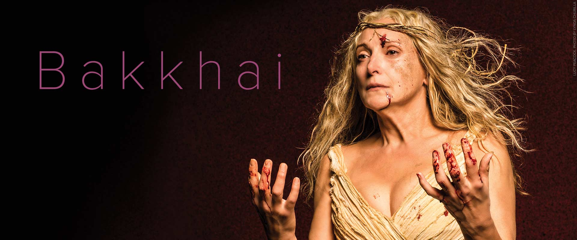 Publicity image from Bakkhai of Lucy Peacock