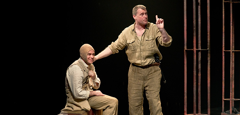 Gareth Potter (left) as Antonio and Tim Campbell as Lollio. Photography by Cylla von Tiedemann.