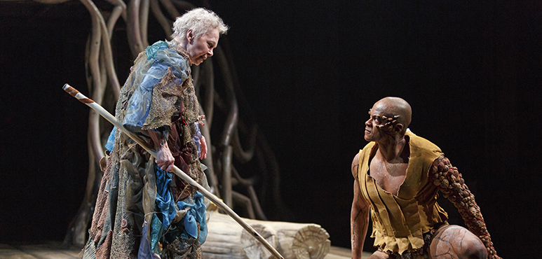 Martha Henry as Prospero and Michael Blake as Caliban. Photography by David Hou.