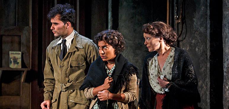 From left: Jonathan Sousa as Amedeo, Shruti Kothari as Maria Rosaria and Brigit Wilson as Amalia. Photography by David Hou.