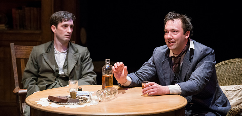Charlie Gallant (left) as Edmund Tyrone and Gordon S. Miller as James Tyrone Jr. Photography by Emily Cooper.
