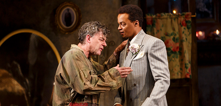 Tom McCamus (left) as Gennaro and Michael Blake as Errico. Photography by David Hou.