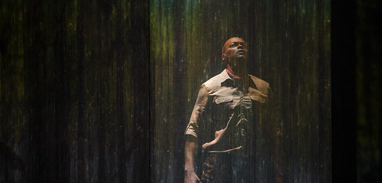 Michael Blake as Othello in Othello. Photography by David Hou.