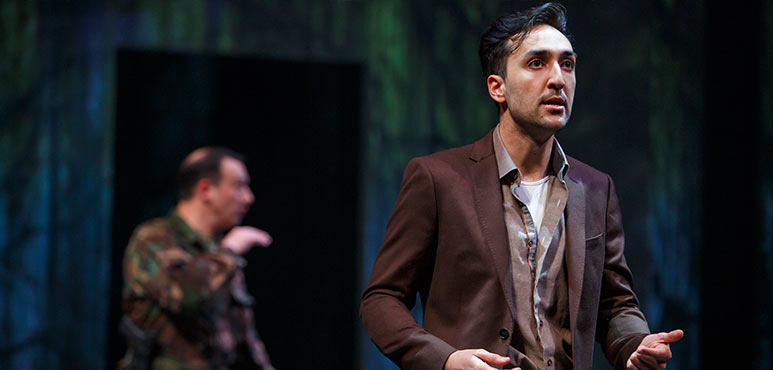 Farhang Ghajar as Roderigo in Othello. Photography by David Hou.