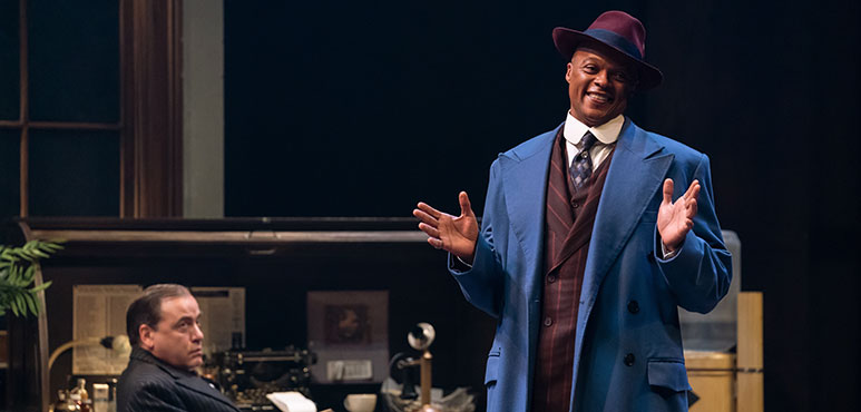 Michael Blake as Diamond Louis with Michael Spencer-Davis as Roy V. Bensinger in The Front Page. Photography by David Cooper.