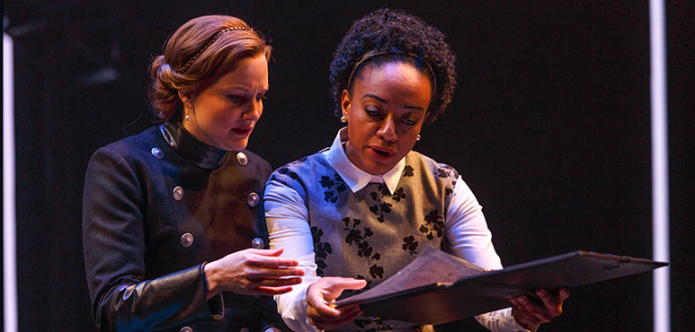 Shannon Taylor (left) as Mary and Beryl Bain as Bassett in Mother's Daughter. Photography by David Hou.