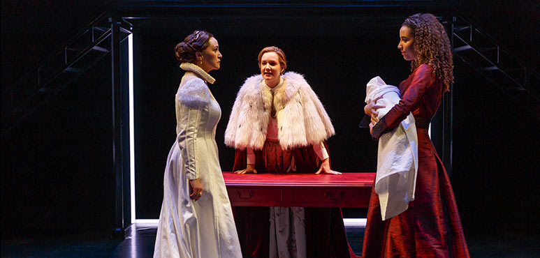 From left: Irene Poole as Catalina, Shannon Taylor as Mary and Jessica B. Hill as Anne in Mother's Daughter. Photography by David Hou.