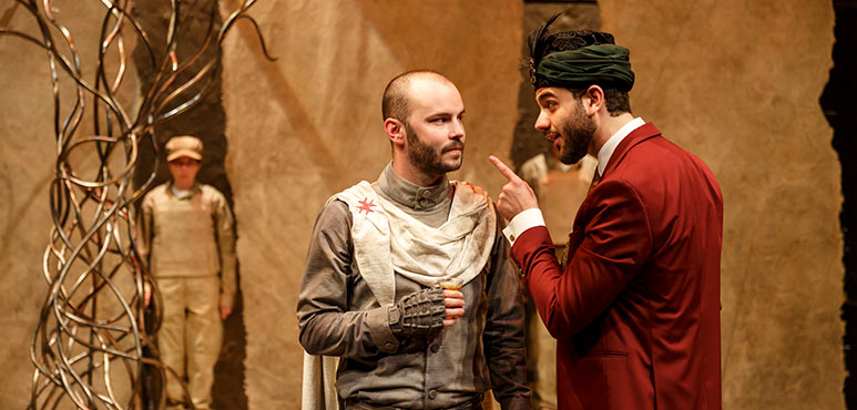 Jakob Ehman (left) as A Knight Templar and Danny Ghantous as Saladin in Nathan the Wise. Photography by David Hou.