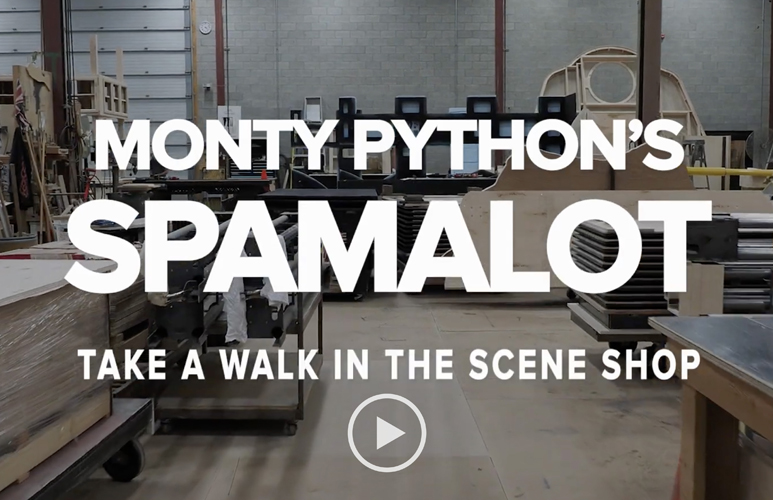 Image linking to Monty Python's Spamalot in the Scene Shop video