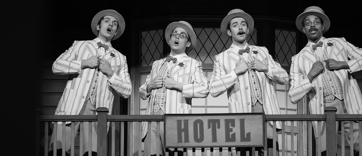 Photograph of quartet from The Music Man