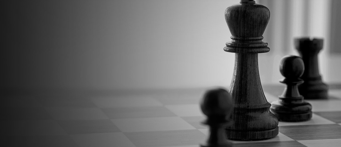 Stock photograph of a chess game