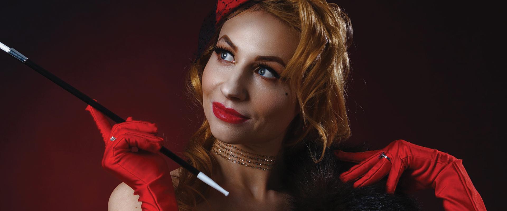 Stock photograph of a cabaret dancer